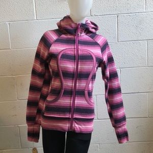 lululemon athletica Tops - Lululemon pink & purple scuba hoodie sz 6 59391